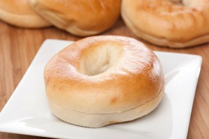 A fresh plain bagel